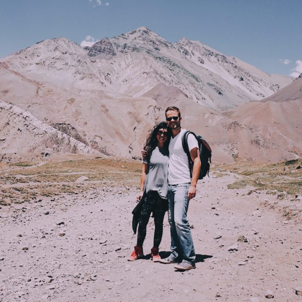 Andes Mountains Argentina Couple