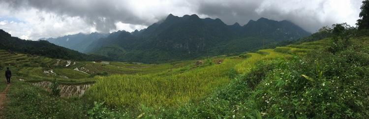 Mai Chau Valley panorama view