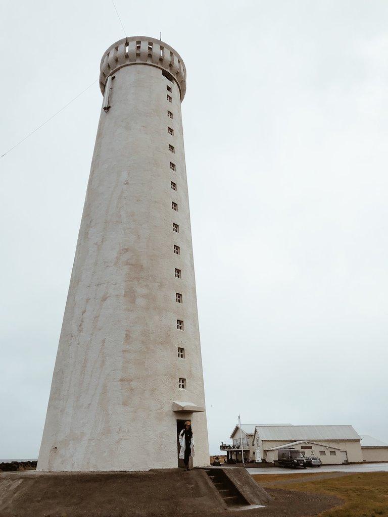 Lighthouse in Reykjanes, Iceland