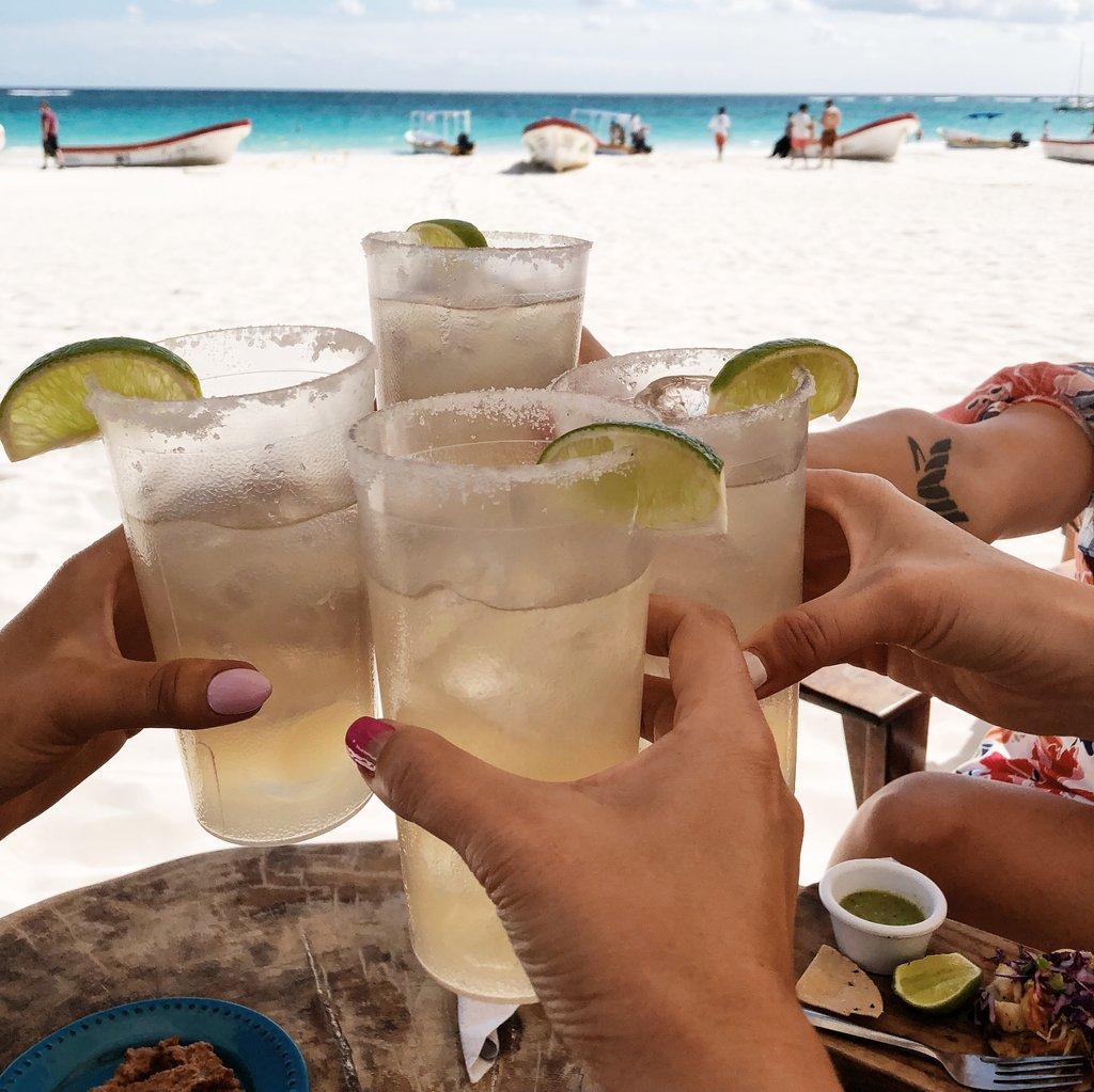 Margaritas in Tulum