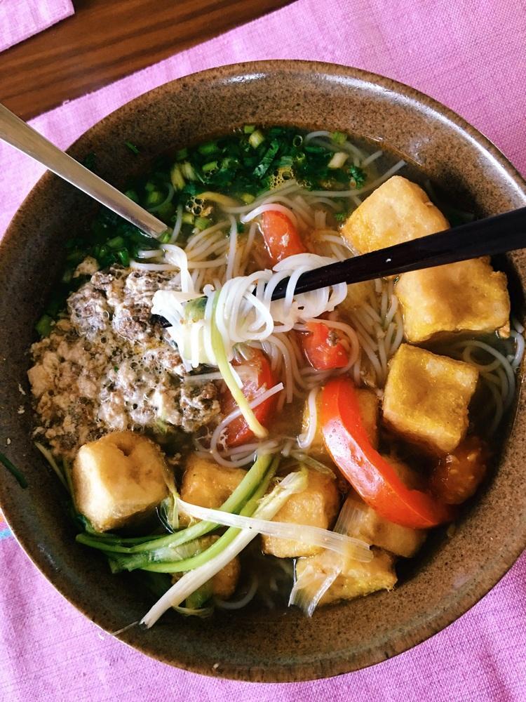 Fresh dinner at Mai Chau Villas