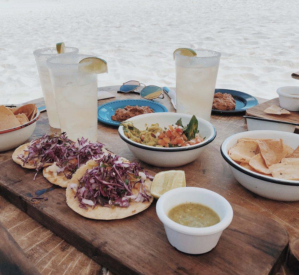 Food on Tulum Beach