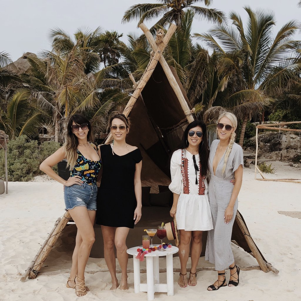 Enjoying the Tulum vibes with the team