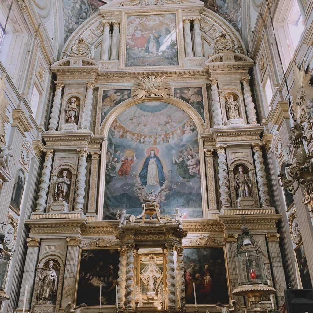 Cathedral Church in Puebla Mexico