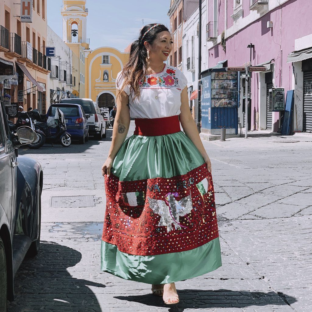 China Poblana Dress in Puebla Mexico