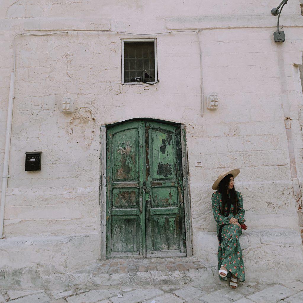 Green Door in Matera