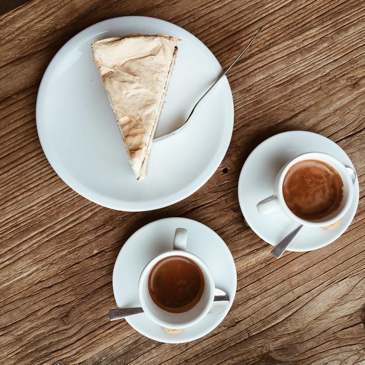 Espresso and cake break at Rizo Cafe in Berlin