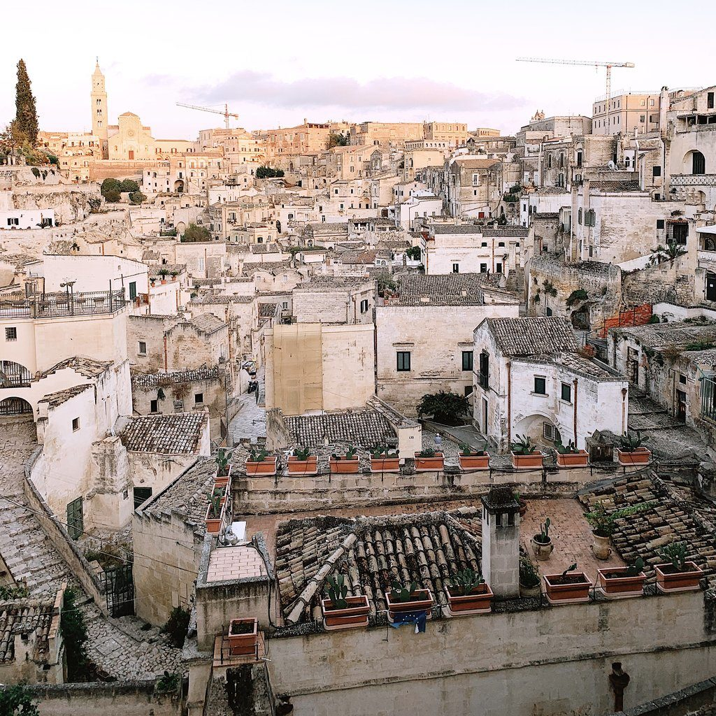 Roof tops of Matera Italy