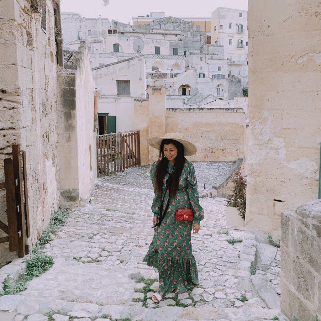 Walking through Matera Italy